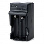 UltraFire UF-66 2-slots 14500 Lithium Ion Battery Charger - Black + White (US Plug / 100~240V )