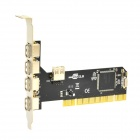 PCI to External 4-Port / Inner 1-Port USB 2.0 Expansion Card - Black