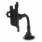 Universal Suction Cup Car Plastic Holder Mount Bracket for GPS / Mobile Phone - Black