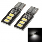 T10 1.2W 42lm 6 x SMD 5730 LED White Light Decoding Car Steering / Tail Light - (2 PCS / DC 12V)
