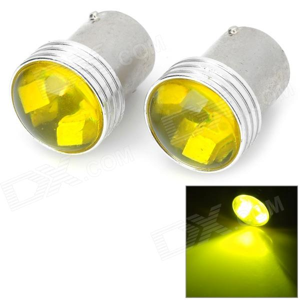 1156 2W 80lm 6-SMD 3030 LED Yellow Car Steering Lights (12V / 2 PCS)