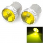 LY503 1156 2W 80lm 6-SMD 3030 LED Yellow Car Steering Lights (12V / 2 PCS)