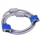 CMVGA15-1 VGA Male to Male Connection Cable - Blue + Grey (1.5m)