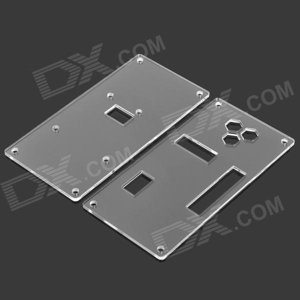 Acrylic copper diy assembling case plates for pcduino
