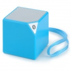 Box Style Mini Portable Handsfree Bluetooth V2.1 Speaker - Blue + Silver Grey