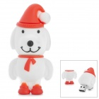 Christmas Dog Style USB 2.0 Flash Drive - White + Red + Multicolored (32GB)