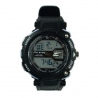 ALIKE AK1391 Sports 50m Water Resistant Quartz Digital Wrist Watch - Black + White