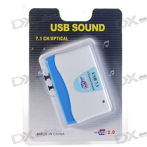 Premium USB 2.0 External Sound Card Box with 7.1-Speaker SPDIF Optical Output
