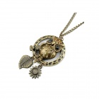 Fashionable Vintage Lovely Owl Pattern Zinc Alloy Women's Sweater Chain - Bronze
