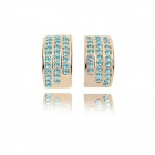 Fashionable Characteristic Zinc Alloy Women's Earrings - Blue + Golden