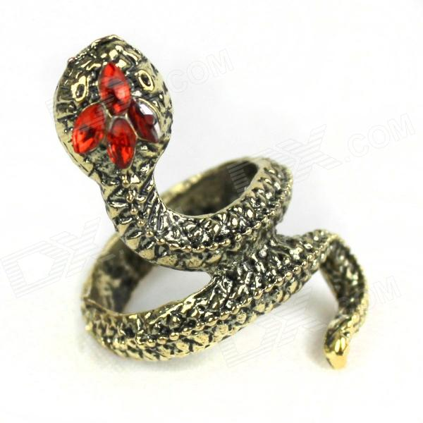 Stylish Snake Style Zinc Alloy Ring - Coppery