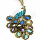 Stylish Peacock Style Zinc Alloy Women's Necklace - Bronze