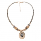 Fashionable Posey Milan Style Rhinestone Decoration Women's Necklace - Copper + Brown