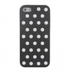 Stylish Polka Dot Pattern Protective Silicone Back Case for Iphone 5 / 5c / 5s - Black + White