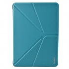 "XUNDD Stylish Ultrathin ""V"" Style Fold Protective PU Leather Case Cover for Ipad AIR - Light Blue"