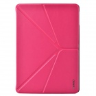 "XUNDD Stylish Ultrathin ""V"" Style Fold Protective PU Leather Case Cover for Ipad AIR - Deep Pink"