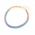 Fashionable Fluorescent OL Braided Rope Necklace - Multicolored