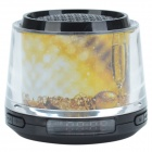 CX-A16 Champagne Pattern Portable Media Player Speaker w/ USB / TF / FM - White + Yellow