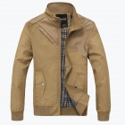 Gusskater B137 Fashionable Men's Wild Simple Collar Jacket - Khaki (Size-XL)