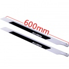 ALIGN T-REX Carbon Fiber + Glass Fiber Blades for 600 Nitro Pro Helicopter - White + Black (4 PCS)