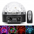 S-3618 18W 6-LED 6-Color Crystal Magic Ball Light w/ DMX 512 / Sound / Remote Control - (90~240V)
