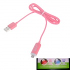 GOLF AYA-123 USB 2.0 Male to Micro USB Male Blue + Red LED Light Data Sync / Charging Cable - Orange