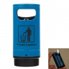 Trash Style High Quality Windproof Butane Lighter - Blue