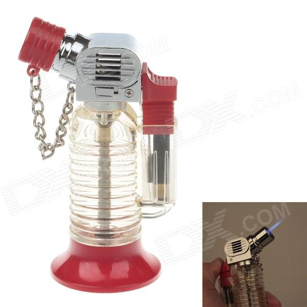 Creative Jet Flame Strong Fire Windproof Inflatable Lighter - Red