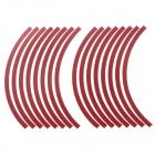 "7.5"" Fashionable Motorcycle Reflective Stickers - Red (2 PCS)"