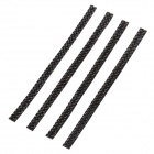 MT-871 4-in-1 Fashionable Car Exterior Accessories Decoration Stickers - Black