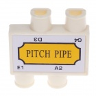 William Instrument 4-Hole Violin Pitch Pipe - Yellow + White