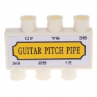 William Instrument 6-Hole Guitar Pitch Pipe - Yellow + White