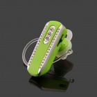 SAENKDEA 518 Stylish Rhinestone Bluetooth v3. 0 + EDR Music Bluetooth Headset - Green + Silver