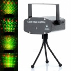 CR 08Twelve Patterns 50mW Green + 100mW Red Laser Stage Lighting Projector w/ Tripod - Black