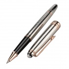 High-end Commercial 0.5mm Gel Ink Pen - Silver + Champagne