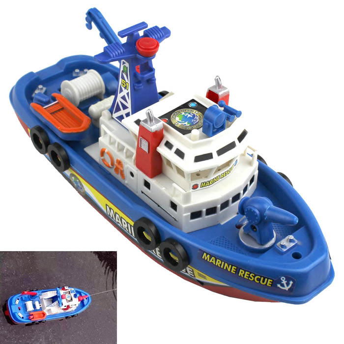 Electric Water Police Boat Toy Free Shipping Dealextreme