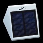 CMI LEH-44459Y Yellow Light 2-LED Wall Light / Fence Light - White (1 x AA)