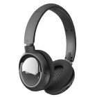 "DAZA D110 1.1"" LCD Stereo Wireless Stereo MP3 Player Headphones w/ TF / FM Radio - Black"