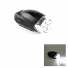 XC-761 4-LED 3-Mode White Light phare de bicyclette étanche - Noir (4 x AAA)