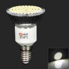 LeXing LX-036 E14 4W 350lm 6000K 80-SMD 3528 LED White Spotlight Bulb (220~240V)