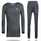 TECTOP Men's Outdoor Polyester + Spandex Underwear Suits - Gray (Size XXL)