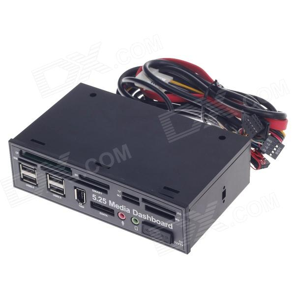 525A All-iin-1 USB 2.0 / 3.0   5.25 Computer CD-ROM Drive Media Dashboard - Black lamp(php)程序设计(附cd rom光盘1张)