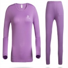 Women's Outdoor Bottoming Underwear Suits - Purple (Size S)