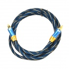 EMK LSYJ-A OD6.0 Toslink Male to Male Optical Fiber Audio Cable - Dark Blue + Golden (200CM)