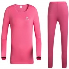 Women's Outdoor Bottoming Underwear Suit - Deep Pink (Size L)