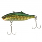 SHIHUN VIB5928 Lifelike Fish Style Fishing Bait - Yellow + Green