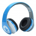 HAVIT HV-H99TF Headset Foldable MP3 Player Headphone w/ TF / FM - Blue + White