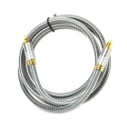 EMK YL-A OD8.0 Toslink Male to Male Optical Fiber Audio Cable - Grey + Silver + Golden (200CM)