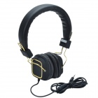 HAVIT HV-H2095d Head-Mounted Big Ear Cover Gaming Headphone w/ Invisible Microphone - Black + Golden
