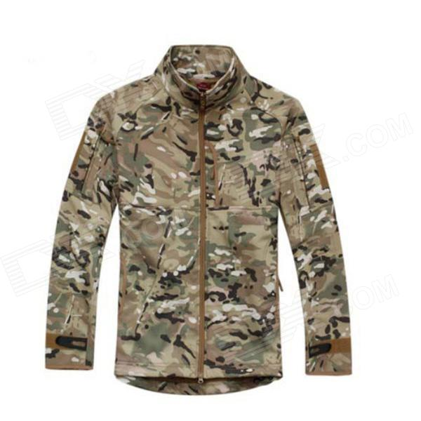 ESDY ESDY-0107 Commander Outdoor Sports Waterproof Warm Polyester Jacket for Men - Camouflage (XXL) outdoor genuine lady pink ski suit camouflage waterproof windproof jacket cotton 1410 018 women wear